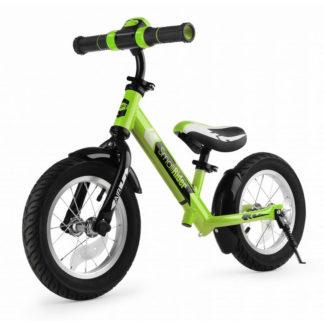 Алюминиевый беговел с надувными колёсами, рёвом мотора и светодиодам Small Rider Roadster 2 AIR Plus NB Зелёный - 1