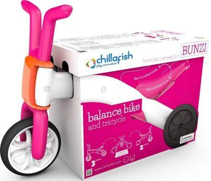Беговел-каталка 2 в 1 для детей от 1 года Chillafish Bunzi розовый - 6