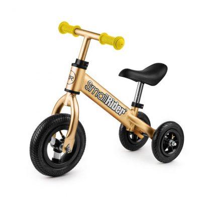 Беговел-каталка 2 в 1 Small Rider Jimmy с надувными колёсами золотой - 1