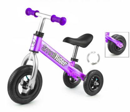 Беговел-каталка трансформер 2 в 1 с надувными колёсами Small Rider Jimmy Фиолетовый - 1