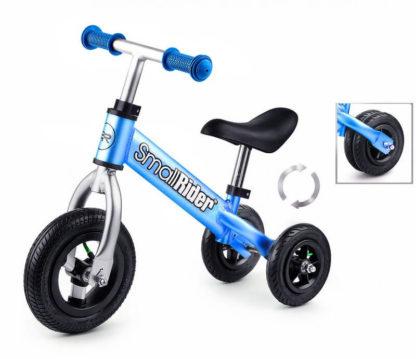 Беговел-каталка трансформер 2 в 1 с надувными колёсами Small Rider Jimmy Голубой - 1