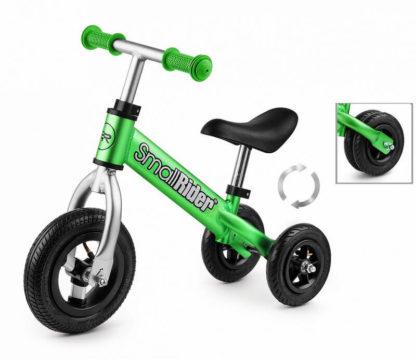 Беговел-каталка трансформер 2 в 1 с надувными колёсами Small Rider Jimmy Зелёный