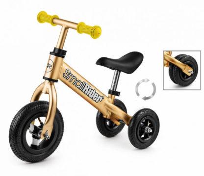 Беговел-каталка трансформер 2 в 1 с надувными колёсами Small Rider Jimmy Золотой