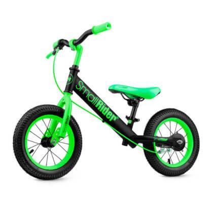 Беговел с ручным тормозом надувными колёсами Small Rider Ranger 2 Neon Зелёный - 1