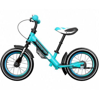 Детский алюминиевый беговел с надувными колёсами Small Rider Roadster 3 Sport Air Аква - 3