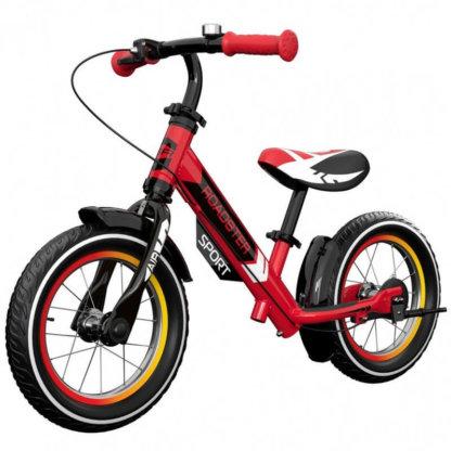 Детский алюминиевый беговел с ручным тормозом и надувными колёсами Small Rider Roadster 3 Sport Air Красный - 1