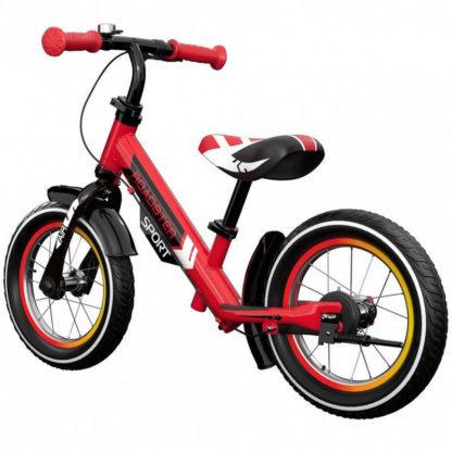 Детский алюминиевый беговел с ручным тормозом и надувными колёсами Small Rider Roadster 3 Sport Air Красный - 2