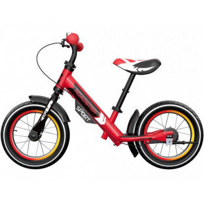 Детский алюминиевый беговел с ручным тормозом и надувными колёсами Small Rider Roadster 3 Sport Air Красный - 3