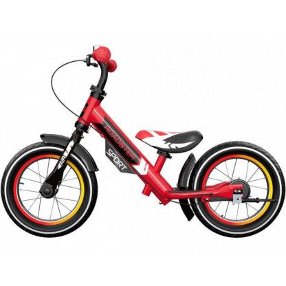 Детский алюминиевый беговел с ручным тормозом и надувными колёсами Small Rider Roadster 3 Sport Air Красный - 4