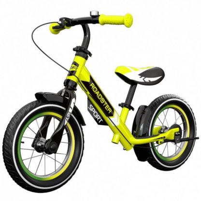 Детский алюминиевый беговел с ручным тормозом и надувными колёсами Small Rider Roadster 3 Sport Air Лайм - 1