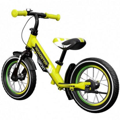 Детский алюминиевый беговел с ручным тормозом и надувными колёсами Small Rider Roadster 3 Sport Air Лайм - 2