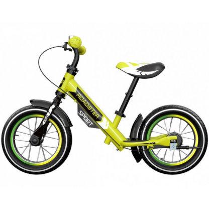Детский алюминиевый беговел с ручным тормозом и надувными колёсами Small Rider Roadster 3 Sport Air Лайм - 3