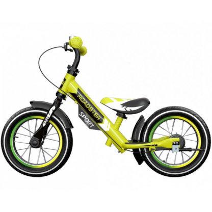 Детский алюминиевый беговел с ручным тормозом и надувными колёсами Small Rider Roadster 3 Sport Air Лайм - 4