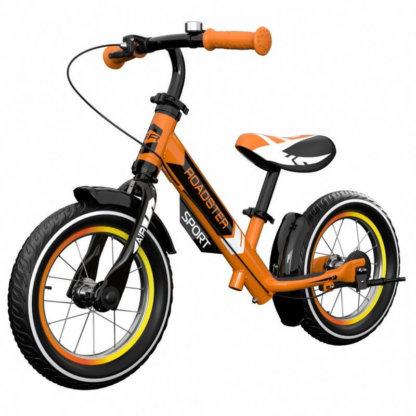 Детский алюминиевый беговел с ручным тормозом и надувными колёсами Small Rider Roadster 3 Sport Air Оранжевый - 1