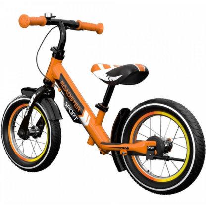 Детский алюминиевый беговел с ручным тормозом и надувными колёсами Small Rider Roadster 3 Sport Air Оранжевый - 2
