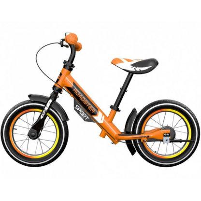 Детский алюминиевый беговел с ручным тормозом и надувными колёсами Small Rider Roadster 3 Sport Air Оранжевый - 3