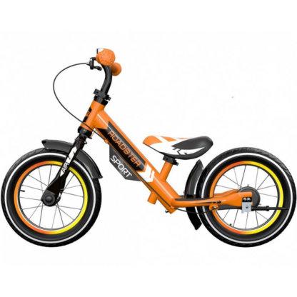 Детский алюминиевый беговел с ручным тормозом и надувными колёсами Small Rider Roadster 3 Sport Air Оранжевый - 4