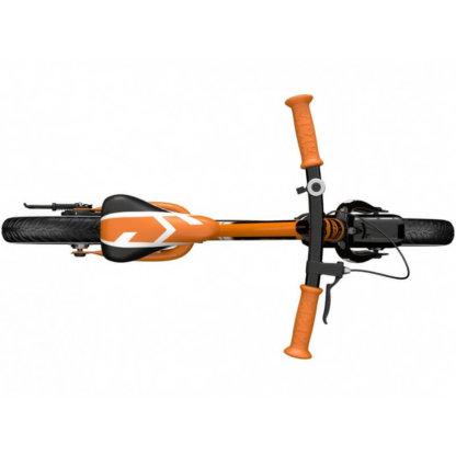 Детский алюминиевый беговел с ручным тормозом и надувными колёсами Small Rider Roadster 3 Sport Air Оранжевый - 6