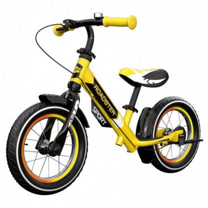 Детский алюминиевый беговел с ручным тормозом и надувными колёсами Small Rider Roadster 3 Sport Air Жёлтый - 1