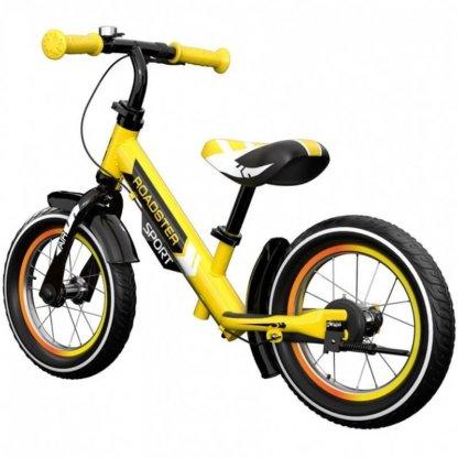 Детский алюминиевый беговел с ручным тормозом и надувными колёсами Small Rider Roadster 3 Sport Air Жёлтый - 2