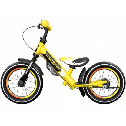 Детский алюминиевый беговел с ручным тормозом и надувными колёсами Small Rider Roadster 3 Sport Air Жёлтый - 4