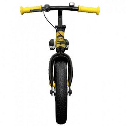Детский алюминиевый беговел с ручным тормозом и надувными колёсами Small Rider Roadster 3 Sport Air Жёлтый - 5