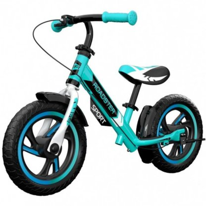 Детский алюминиевый беговел с ручным тормозом Small Rider Roadster 3 Sport EVA Аква - 1
