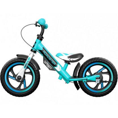 Детский алюминиевый беговел с ручным тормозом Small Rider Roadster 3 Sport EVA Аква - 4