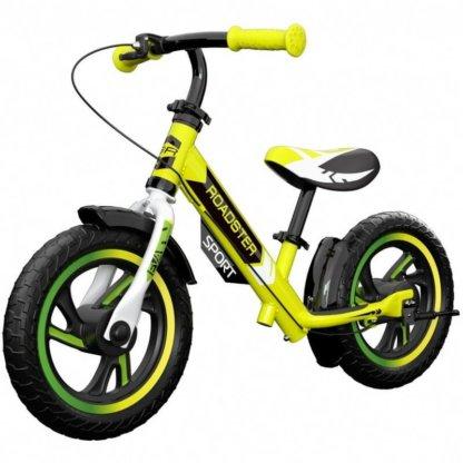 Детский алюминиевый беговел с ручным тормозом Small Rider Roadster 3 Sport EVA Лайм - 1