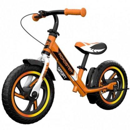 Детский алюминиевый беговел с ручным тормозом Small Rider Roadster 3 Sport EVA Оранжевый - 1