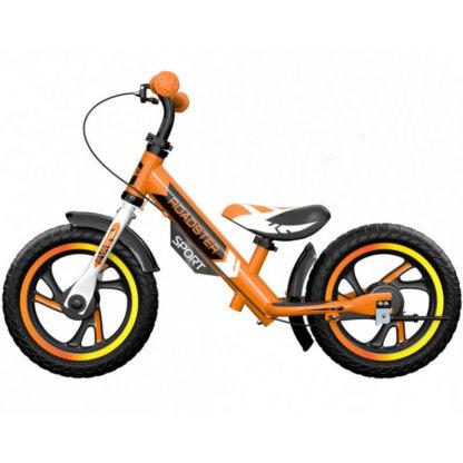 Детский алюминиевый беговел с ручным тормозом Small Rider Roadster 3 Sport EVA Оранжевый - 3