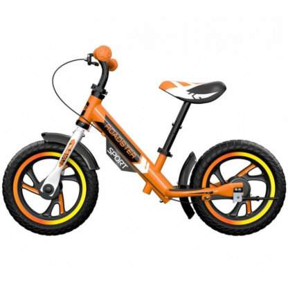 Детский алюминиевый беговел с ручным тормозом Small Rider Roadster 3 Sport EVA Оранжевый - 4