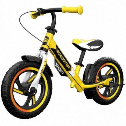 Детский алюминиевый беговел с ручным тормозом Small Rider Roadster 3 Sport EVA Жёлтый - 1