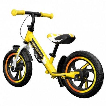 Детский алюминиевый беговел с ручным тормозом Small Rider Roadster 3 Sport EVA Жёлтый - 2