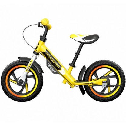 Детский алюминиевый беговел с ручным тормозом Small Rider Roadster 3 Sport EVA Жёлтый - 3