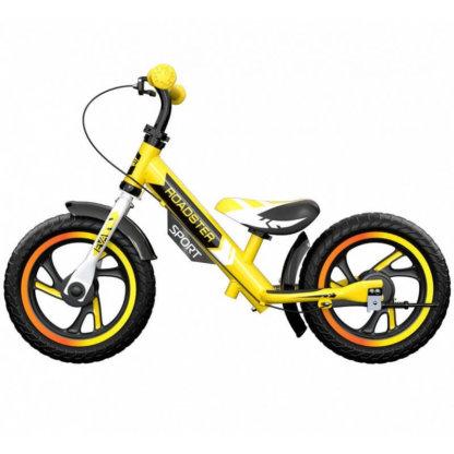 Детский алюминиевый беговел с ручным тормозом Small Rider Roadster 3 Sport EVA Жёлтый - 4