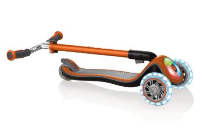 Складной трёхколёсный самокат Globber Elite Prime Оранжевый - 3