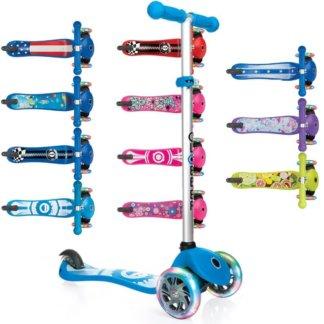 Трехколесные самокаты с принтом и светящимися колёсами Globber Primo Fantasy Lights