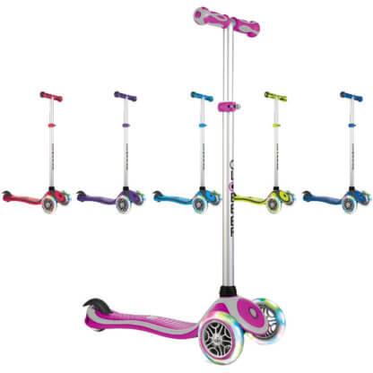 Трехколесные самокаты со светящимися колёсами Globber Primo Plus Lights