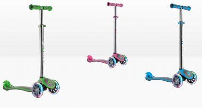 Трехколесный самокат со светящимися колёсами Globber My Free Up Titanium Lights - 3 цвета