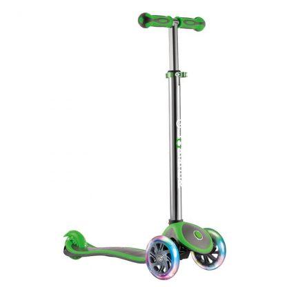 Трехколесный самокат со светящимися колёсами Globber My Free Up Titanium Lights Зелёный - 1