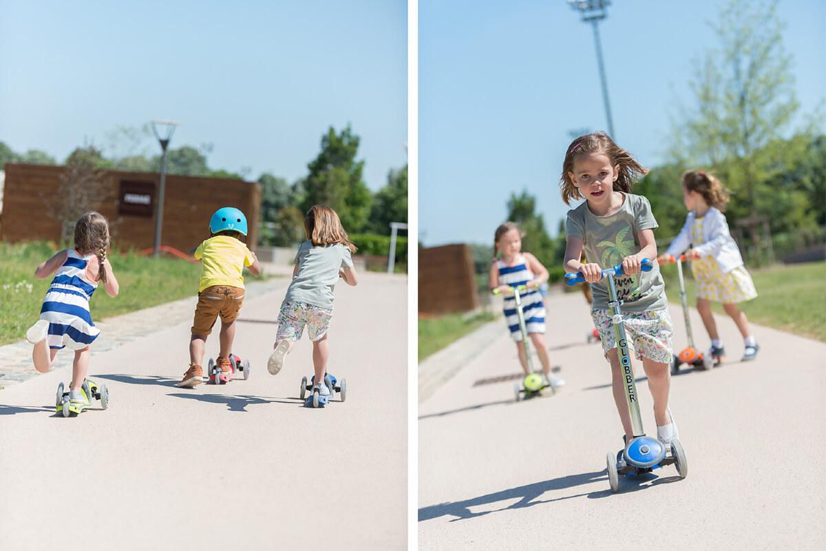 Трехколесный самокат со светящимися колёсами Globber Primo Plus Lights Дети на самокатах - 2