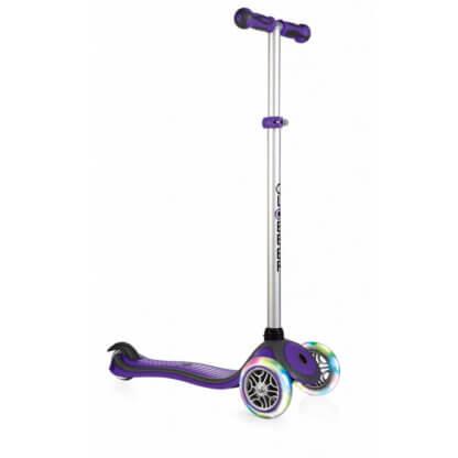 Трехколесный самокат со светящимися колёсами Globber Primo Plus Lights фиолетовый - 1