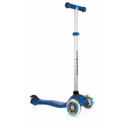 Трехколесный самокат со светящимися колёсами Globber Primo Plus Lights синий - 1