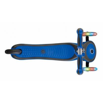 Трехколесный самокат со светящимися колёсами Globber Primo Plus Lights синий - 3