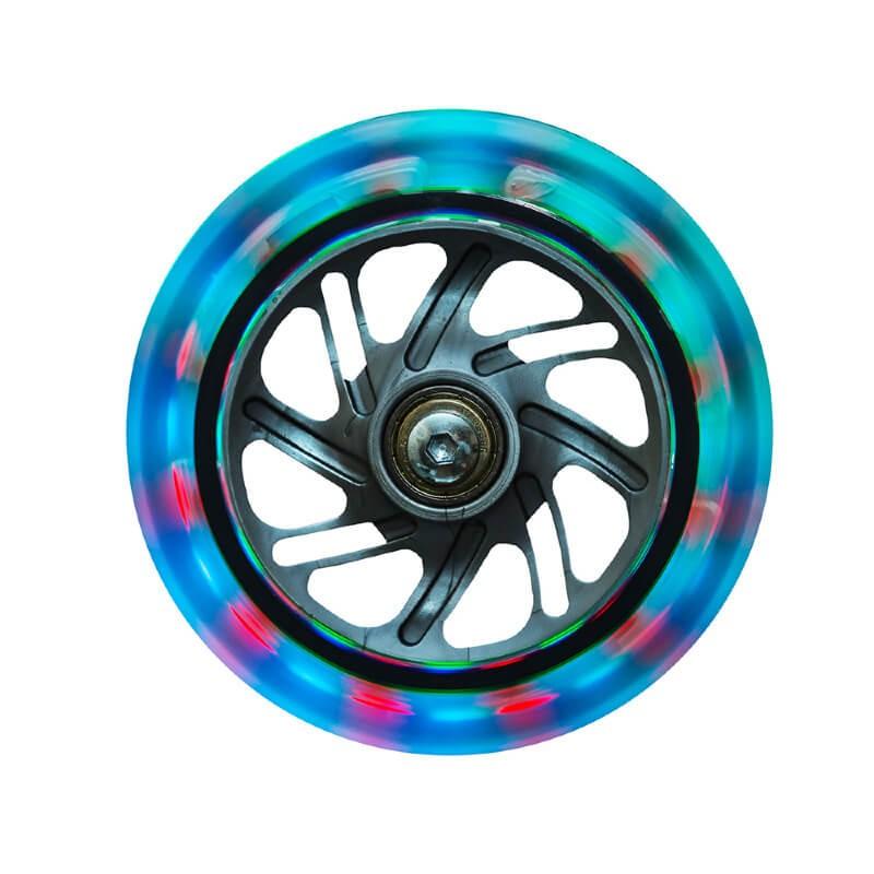 Трехколесный самокат со светящимися колёсами Globber Primo Plus Lights - светящиеся колёса