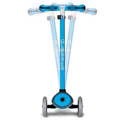 Трехколесный самокат со светящимися колёсами и цветным рулём Globber Primo Plus Lights Color голубой - 3