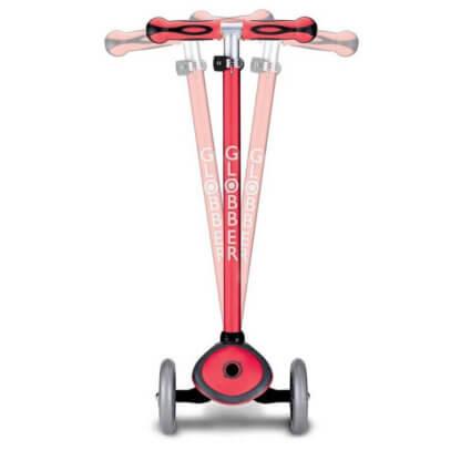 Трехколесный самокат со светящимися колёсами и цветным рулём Globber Primo Plus Lights Color красный - 3