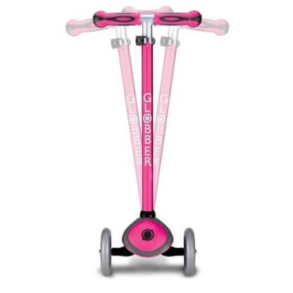 Трехколесный самокат со светящимися колёсами и цветным рулём Globber Primo Plus Lights Color розовый - 3