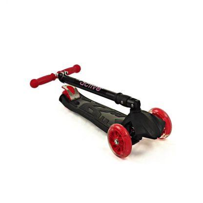 Трёхколёсный самокат со складной регулируемой ручкой и светящимися колёсами Triumf Active Maxi Flash Plus SKL-07CL Чёрный - 2